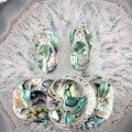 Encanto Nueva Zapatilla Zapato Del Grano Natural de Shell del Olmo Cuelga Los Pendientes y Colgante 1 Unidades