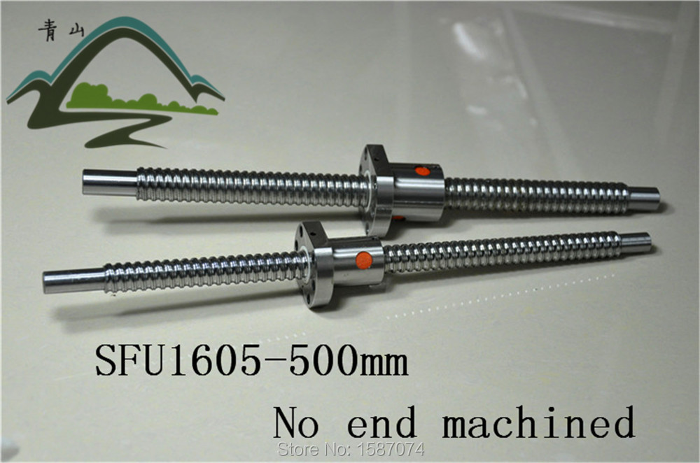 cheap ball screw sfu1605-L500mm with a nut without end machined  for cnc machine