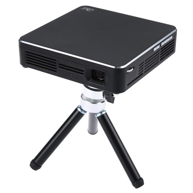 2016 Nueva Negro RTS Proyector DLP 1000 Lúmenes 854x480 píxeles 1080 P Linux Interfaz USB Full HD Reproductor Multimedia de Alta Calidad