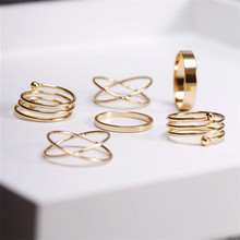 punk gold plated stackable Knuckle midi rings for women Finger Ring Set bague anillos mujer anel