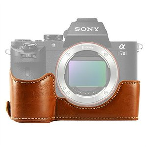 Image 4 - limitX Pu Leather Case Bottom Opening Version Protective Half Body Cover Base For Sony Alpha A7 III 3 / A7R III 3 Digital Camera