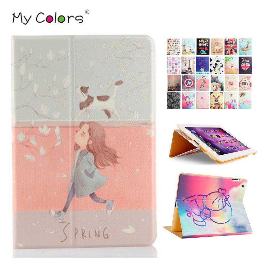 Tablet Case Cover For iPad mini 2 3 7.9'' Colorful Print PU Leather Protective Stand For Apple iPad mini2 Mini3 Smart Cases Skin