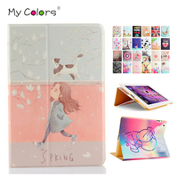 Tablet Case Cover For IPad Mini 2 3 7 9 Colorful Print PU Leather Protective Stand