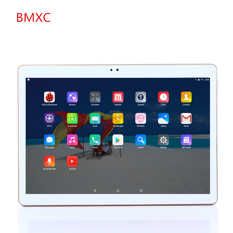 Free delive 10 inch MTK8752 Octa Core android 7.0 Tablet PC 1280x800 HD 4GB RAM 32GB ROM Wifi 3G WCDMA Mini GPS FM tablet+gift
