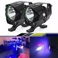 2016 NOVA 2x15 W XML T6 LEVOU Holofotes Motocicleta Fog Driving Lâmpada Spot Light Head Lamp