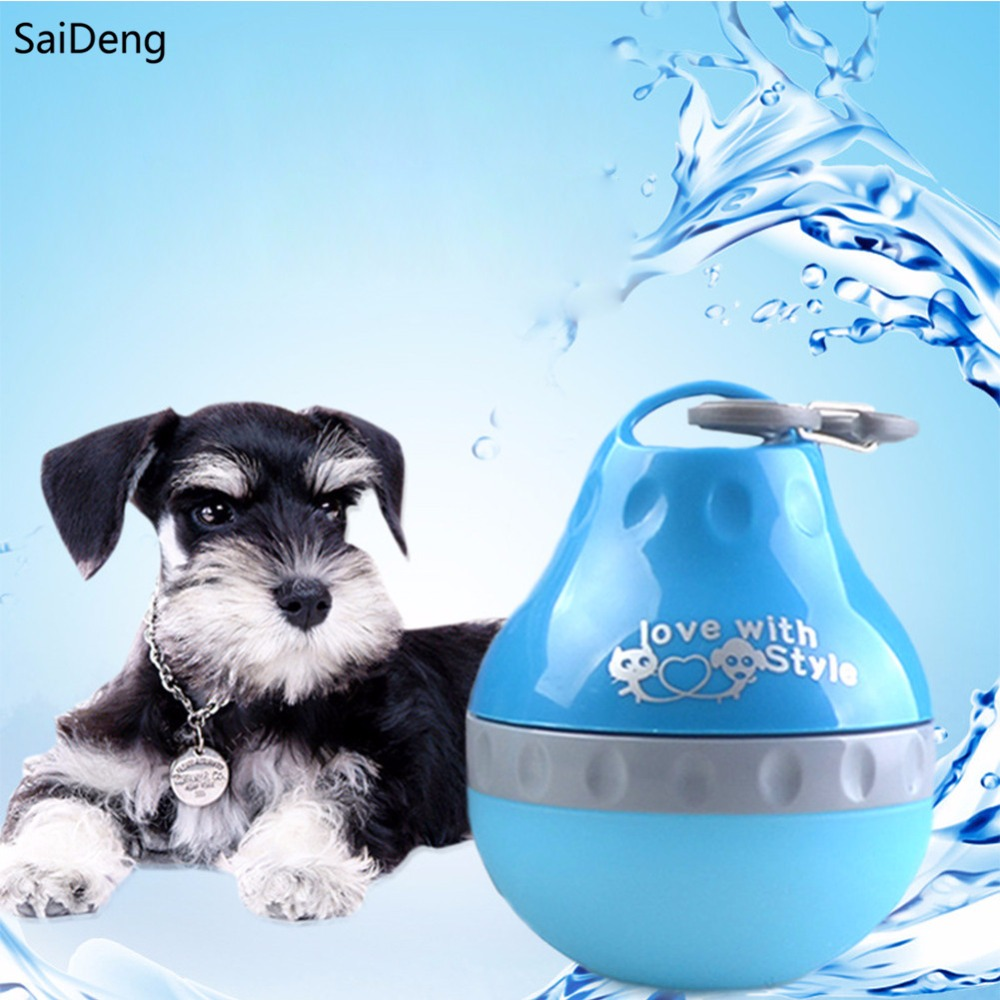 Portable Dog Water Bottle Cat Puppy Drinking Bottle Pet: SaiDeng Drink Pet Dog Water Bottle Outdoor Travel Portable