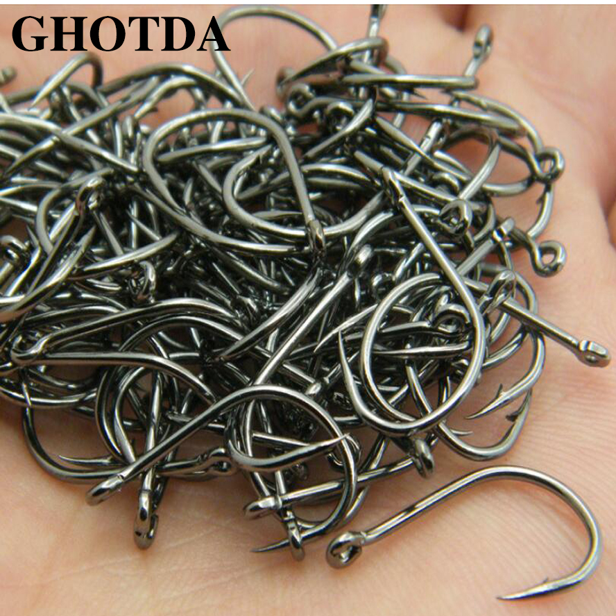 GHOTDA 100pcs Iseama Circle Carp Fishing Hook Size #4 #6 #8 #10 #12