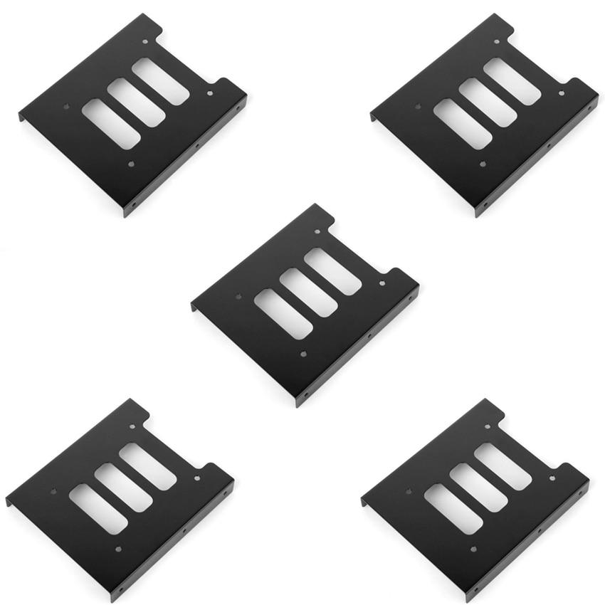 Besorgt F17854-5 5 Stücke 2,5 ssd Hdd 3,5 Schwarz Montage Adapter Bracket Dock Festplatte Halter Mit Schrauben Für Pc Weich Und Rutschhemmend Externer Speicher