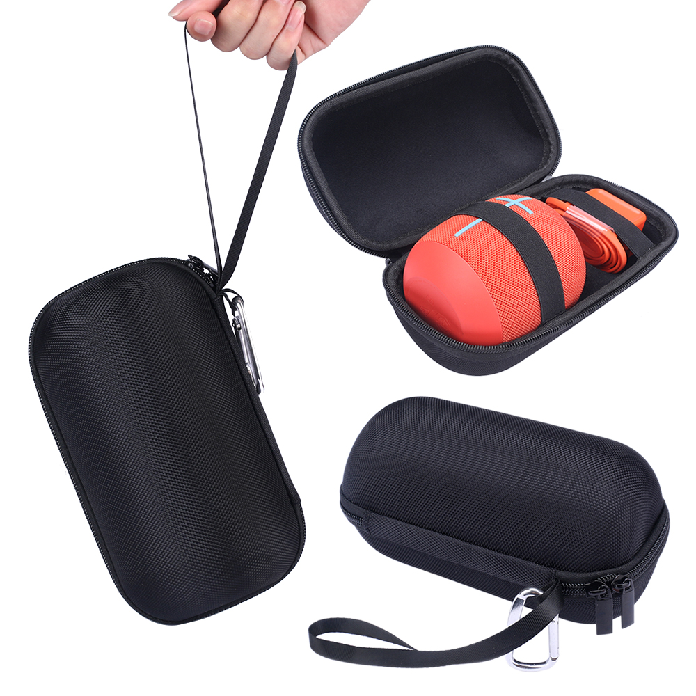 2018 PU Carry Travel Protective Speaker Cover Pouch Bag Case For Ultimate Ears UE WONDERBOOM Bluetooth Speaker and Plug & Cables