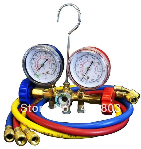Freon adicionando o calibre para o calibre automático do manifld de syetem & r12 r22 r502