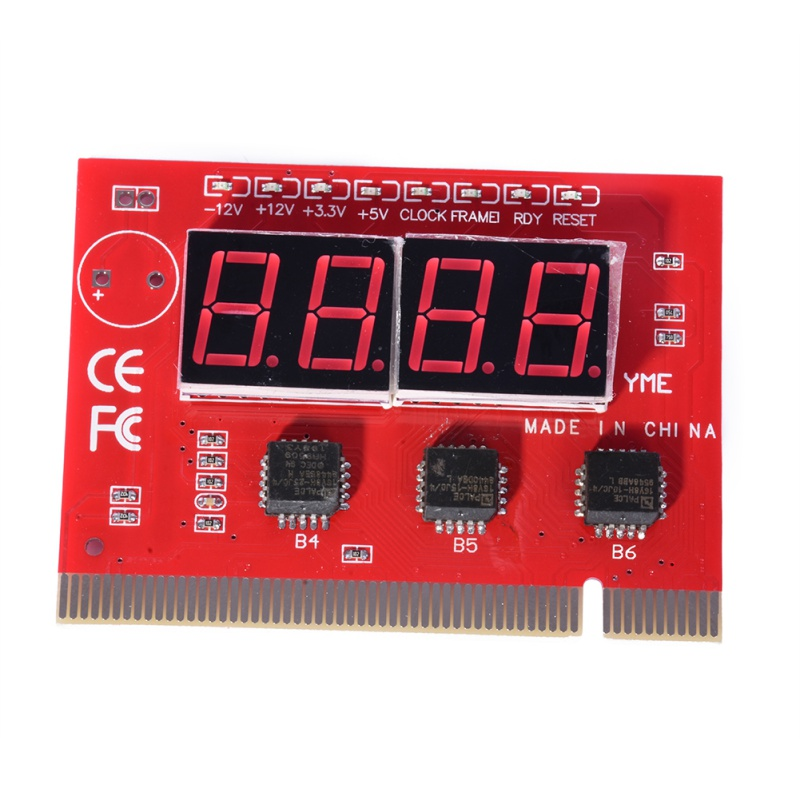 4-Digit 4 Bit Digital PCI PC Analyzer Diagnostic Motherboard POST Test Card Red