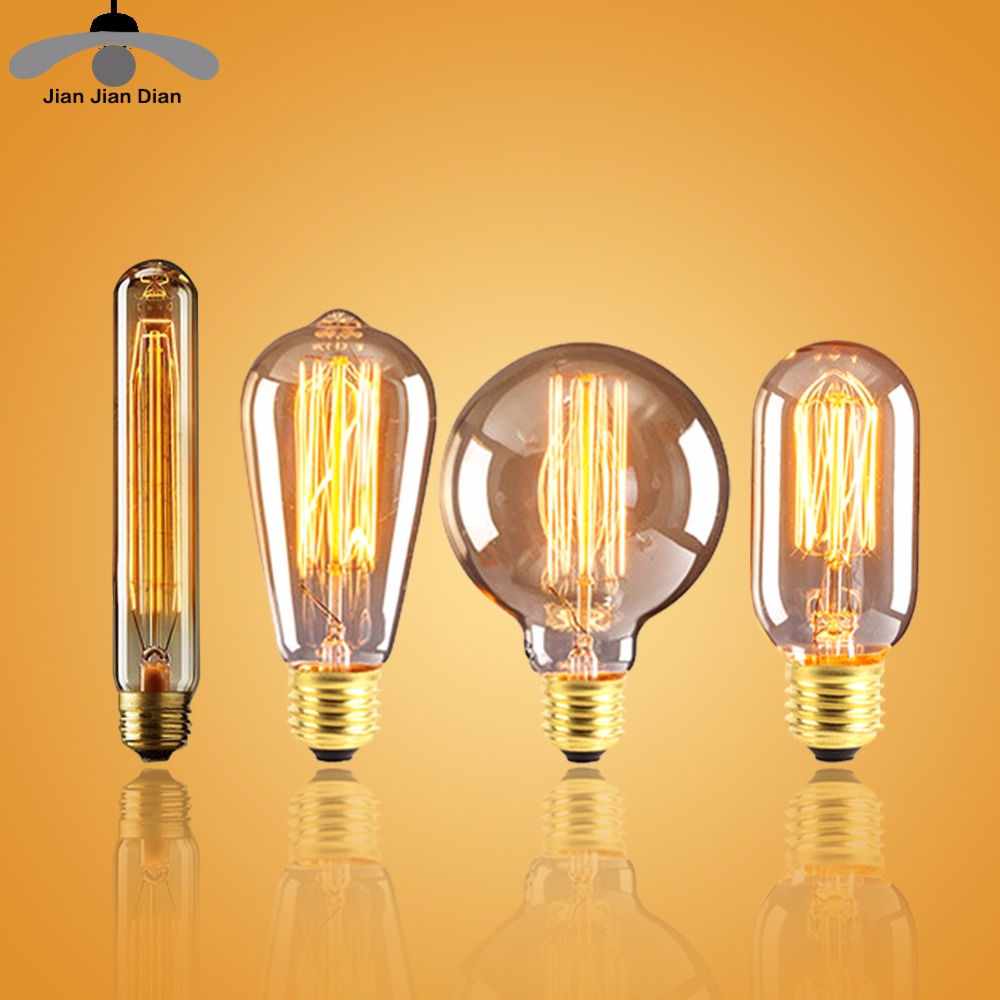 buy vintage edison filament bulb e27. Black Bedroom Furniture Sets. Home Design Ideas