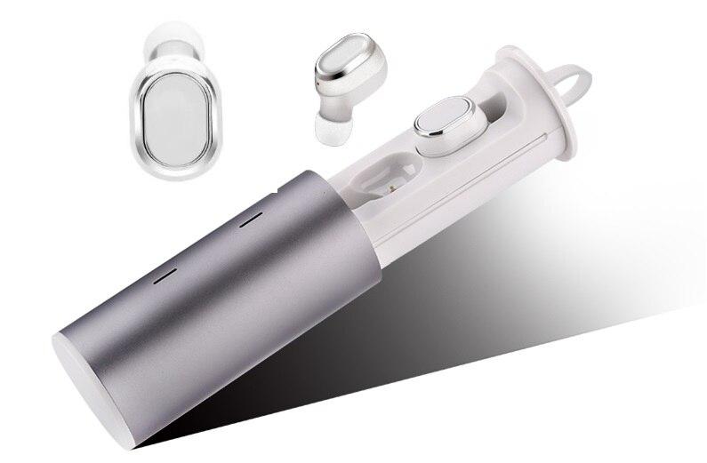 TWS affaires Bluetooth écouteurs sans fil 3D stéréo casque casque et batterie externe avec microphone mains libres appels