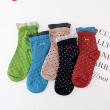 Funny Socks Women Spring Autumn Winter Jacquard Snow Point Casual Deodorant Cotton Comfort Cute Sock Happy Various Colors Female