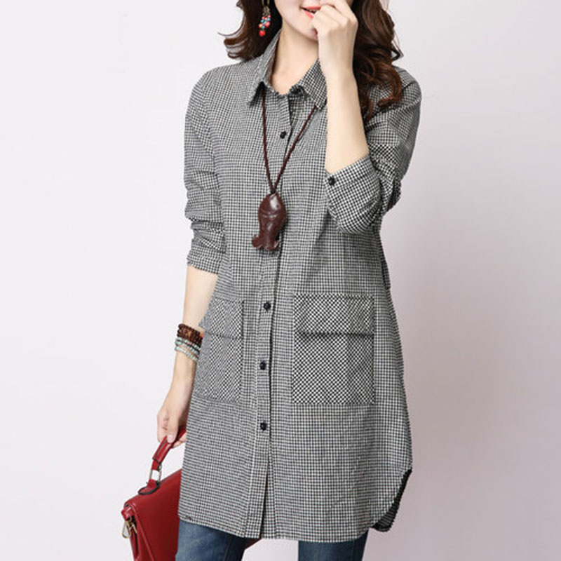 long plaid shirts for women page 1 - sleeve