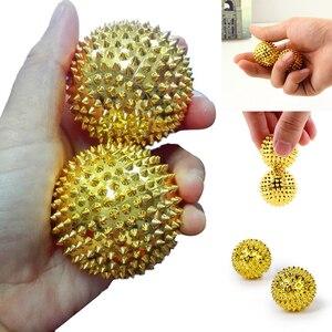 Image 5 - 2 sztuk stymulacji magnetycznej igły pierścień do masażu akupunktura piłka zdrowia masażer do pielęgnacji palec piłka do masażu ulga masażysta