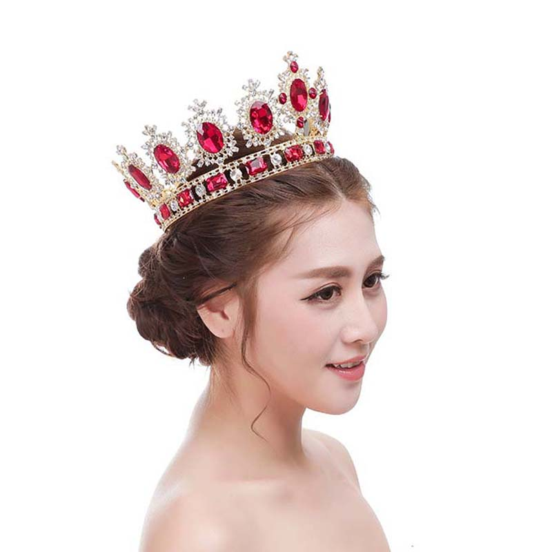 New Luxury Large Wedding Pageant Silver Tiara crown Crystal Bridal pageant Crown and Tiaras for Women Free Shiping T-697 free shiping crystal