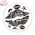 Sexy Lips Design Polish Print Stamp Template Beard Image Stainless Steel Nail Art Stamping Plates Diy Stencils For Nails JH235