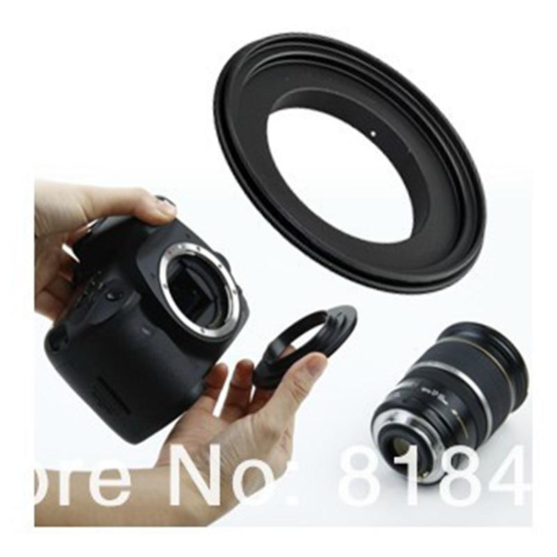 Anillo inversa // Adaptador Macro 58mm para Canon EOS 700D 1200D 1000D 1100D