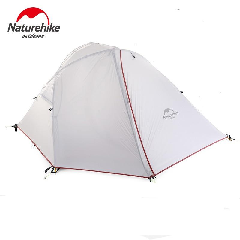 Naturehike 1-2 hombre campaña al aire libre 1-2 Persona ultraligero senderismo campamento Tiendas de campaña 1.25 kg pu 4000mm