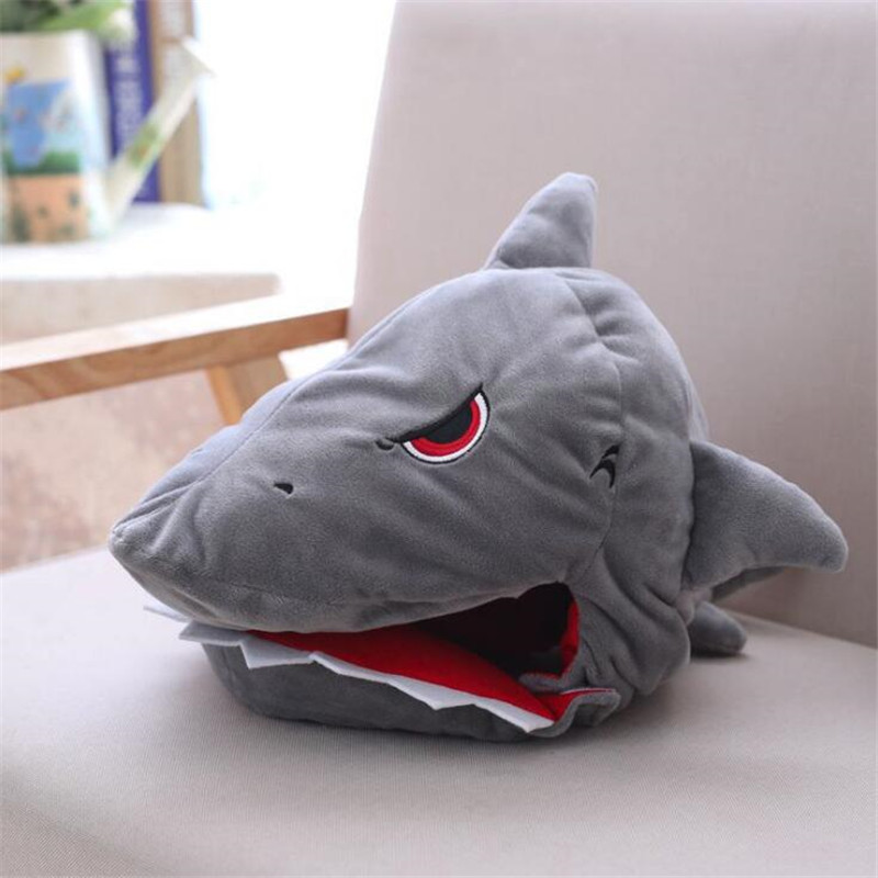 Anime Movie Hot Shark Hat Cosplay Costumes Props Accessories Plush Toy Doll Fancy Head Fancy Cap Take Photos Keep Warm ...