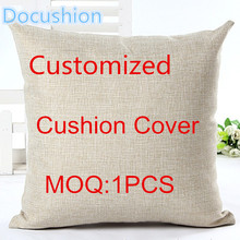 2015 Customized Linen Cotton Cushion 45*45cm For Home Sofa Decorative Throw Decor Cojines