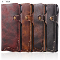 NEW100% Genuine Leather Cowhide Retro Phone Case For iPhone 7 Plus Luxury Wallet Pouch Card Holder Case Women With Lanyard Strap