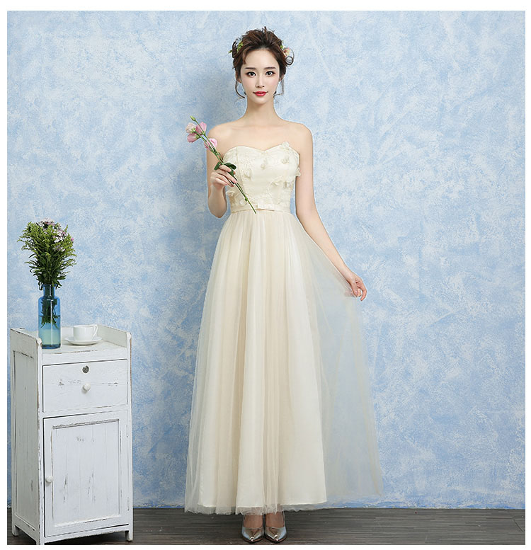 Teenage Girls Party Clothing 14 Years Blue Champagne Pink Shoulderless Evening Gown for Prom Long Strapless Chiffon Prom Dresses
