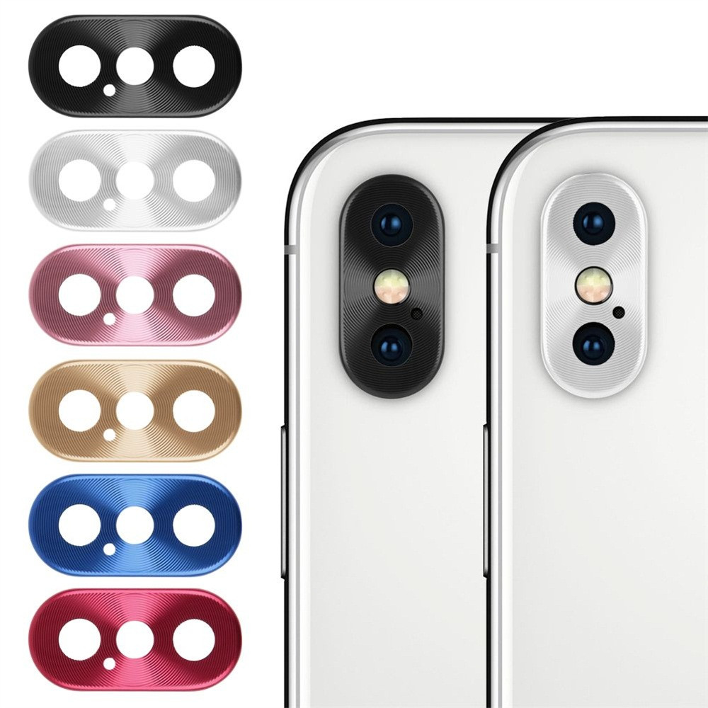 Metal Lens Protector for iphone XS XR XS Max 7 8 Plus X Luxury Camera Guard Circle Case Cover Ring Bumper Protection Ring