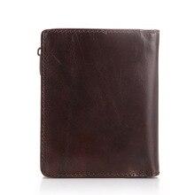 Vintage Design Genuine Cowhide Leather Wallet