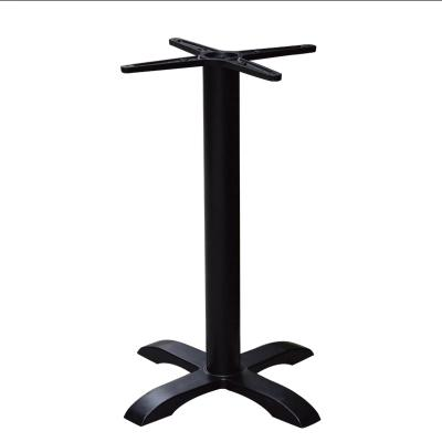 Black Four-legged Table Leg Cross Base Support Frame Coffee Shop Table Legs Stand Custom-made Restaurant Table Bar Table Base