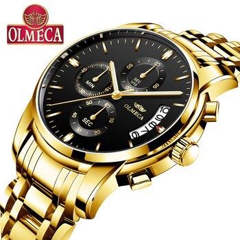 252fa10e Relogio masculino для мужчин s часы лучший бренд класса люкс кварцевые  Военная Униформа наручные часы золотой черный бизнес мужской 2018