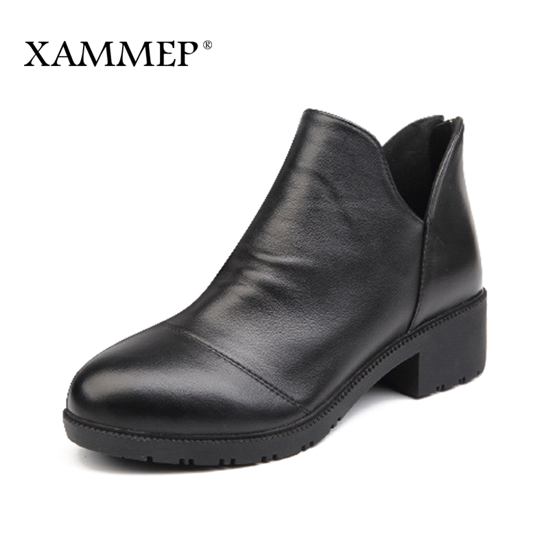 Xammep Womens Shoes Spring Autumn Women Genuine Real Leather Pump Shoes Big Size High Qu ...