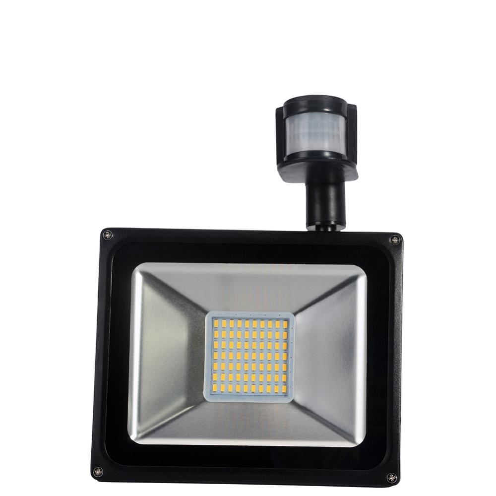 2PCS PIR LED Flood Light Motion Sensor Outdoor Lighting