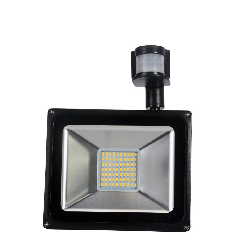 2pcs Pir Led Flood Light Motion Sensor Outdoor Lighting