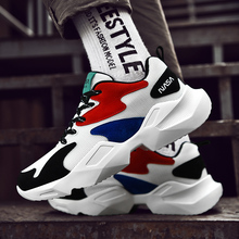 Summer Breathable Fashion Mixed Color Men Running Shoes Outdoor Sport Casual Sneakers Athletic Footwear Size 39-44