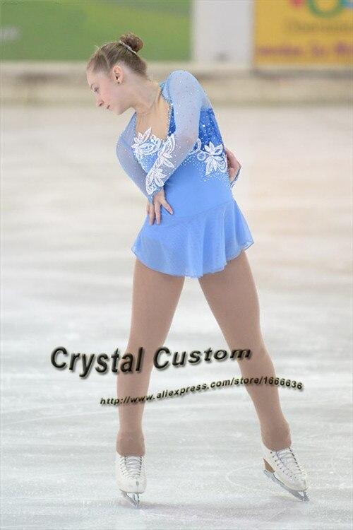 Figure Skating Dresses Competition Children Fashion New Brand Skating Clothing Kids DR3379