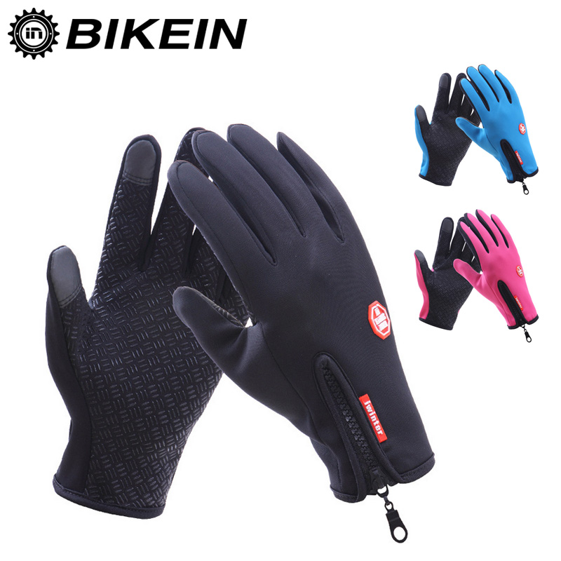 Outdoor Sports Waterproof Touch Screen Glove Winter Skiing Bicycle Warm Motorcycle Windstopper Gloves Cycling Bike Accessories