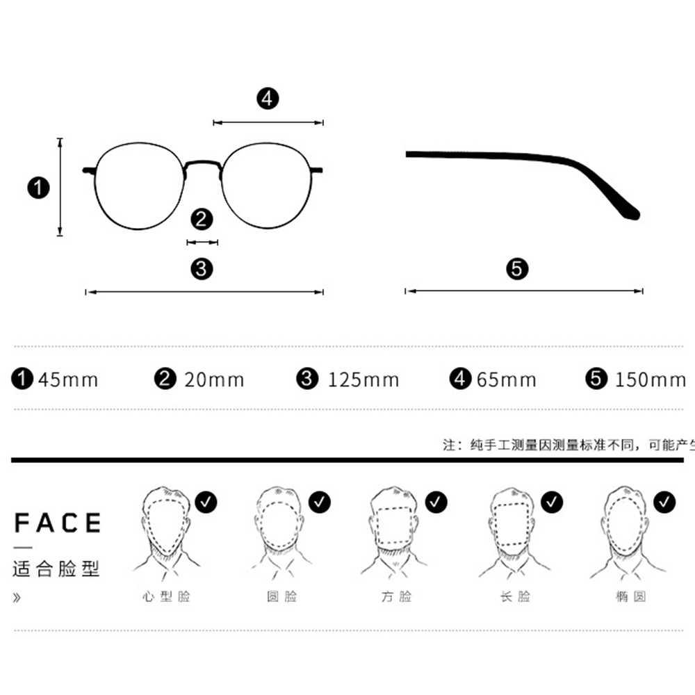 Fashion Oversize Classical Art Frame Custom Made Prescription Optical Lenses or Photochromic Gray / Brown Lenses 0 -0.5 -1 To -6