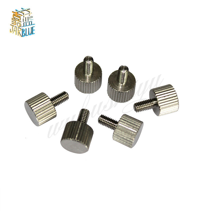 10Pcs M3/M4 A2 304 Thumb Screws Plain Type Metric Knurled Head Screws
