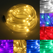 цена на HANMIAO 50/100 LED Solar Light Outdoor/Indoor Waterproof  PVC Tube Transparent LED Solar Lamp for Garden Decoration Christmas 02