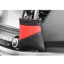 Universal Car Seat Back Tidy Storage Box Coin Bag For Glasses Pocket Hanging Holder Pouch leather car hanging storage bag pouch brown