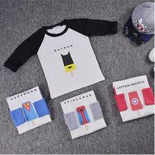 2016 fashion Korean cotton t shirts for boys and girls ice cream batman hero design baby kids clothes children tops tees