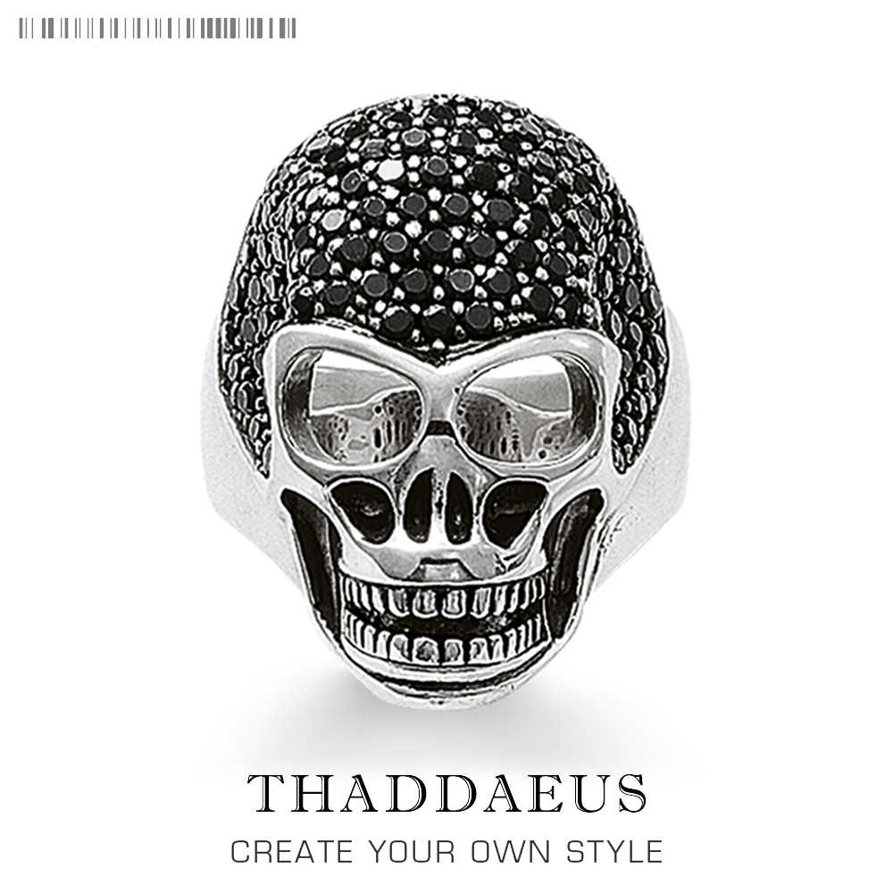 925 srebrny pierścionek z czaszką, 2020 nowy Thomas Style Heart Rebel Street dobra biżuteria dla mężczyzn i kobiet, prezent 2020 Ts, Super oferty