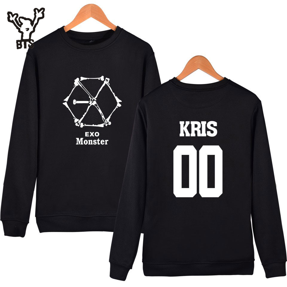 Women's Clothing Year-End Bargain Sale Learned Kpop Monster Capless Sweatshirt Men/women Hoodies Hip Hop Winter Clothes Xxxxl All Exo Members Kris Suho Baekhyun Luhan..