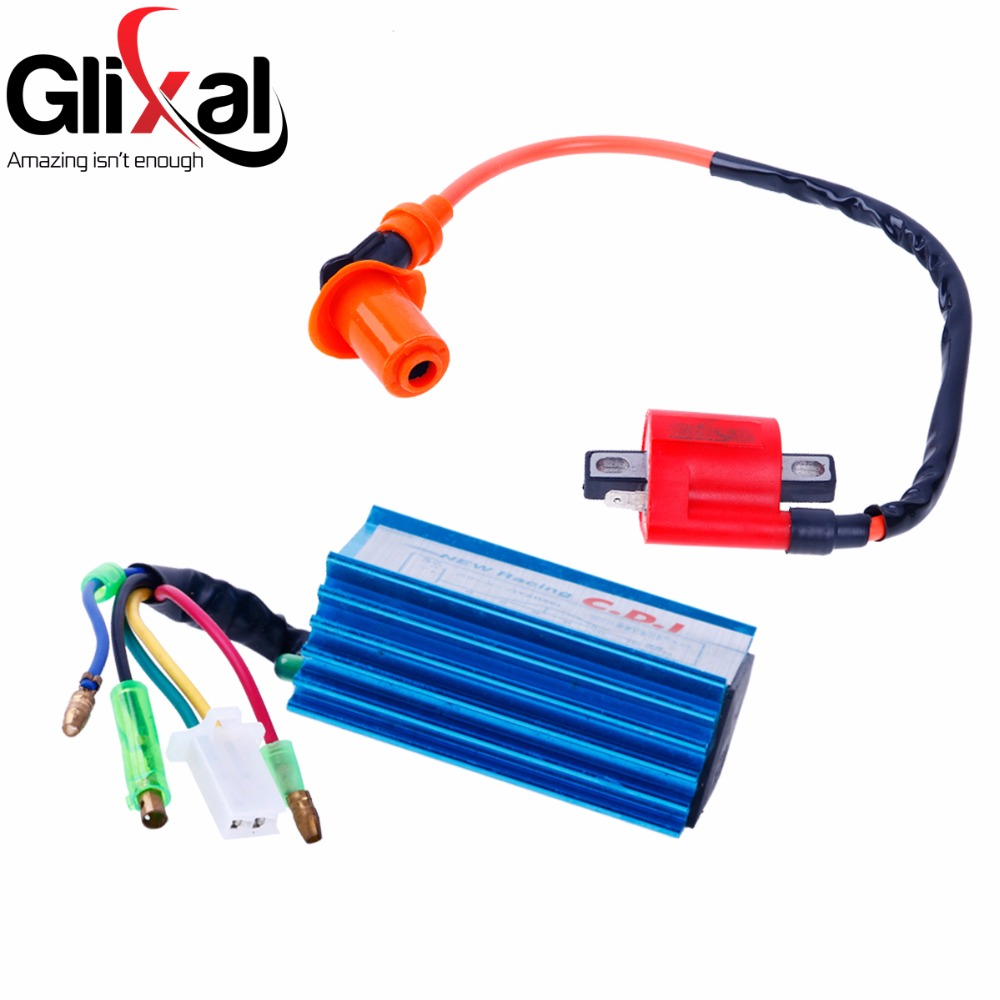 Glixal Jog 50cc 72cc MINARELLI 1PE40QMB Engine Scooter Moped High  Performance AC Racing CDI Box + Ignition Coil