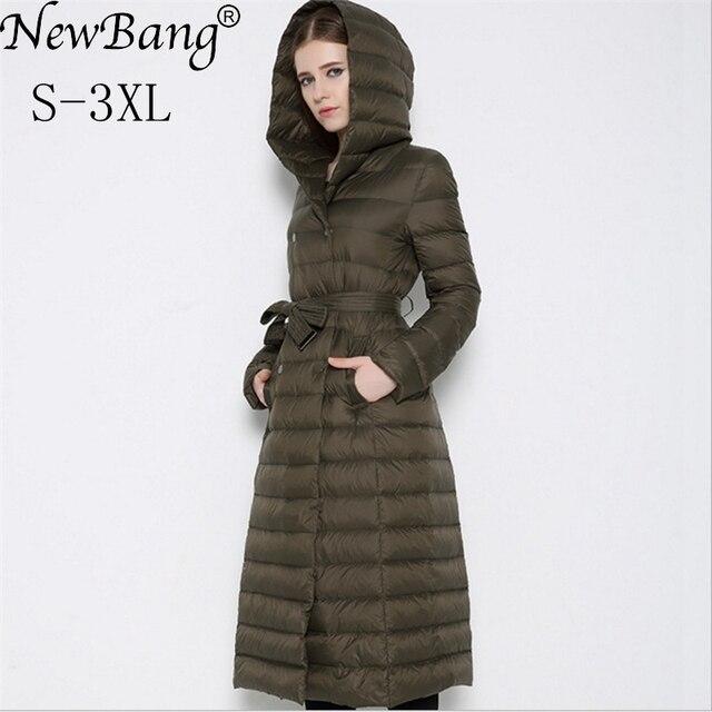 NewBnag Brand Long Down Women Duck Down Jacket Winter Coat Woman 2018 Feather Warm Slim Windbreaker Female Hooded Outerwear