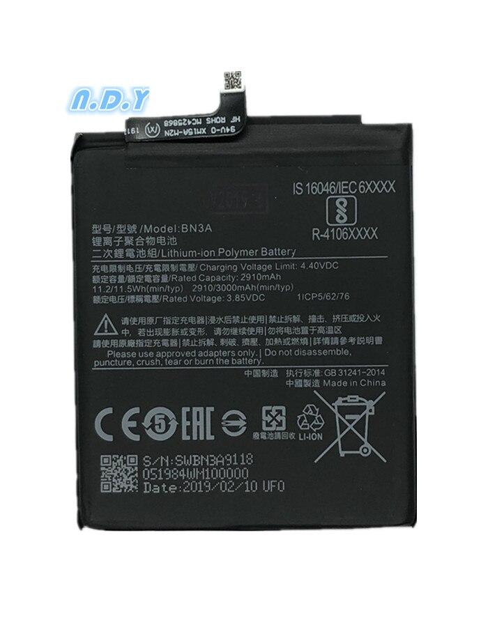 Para o original xiaomi bn3a 2910/3000 mah bateria para xiaomi redmi go bn3a bateria bateria bateria bateria bateria bateria inteligente telefone
