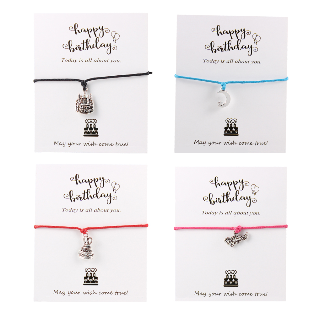 Mummy To Be Gift Charm Adjustable Wax Cord Bracelet New Mum New Baby Wish