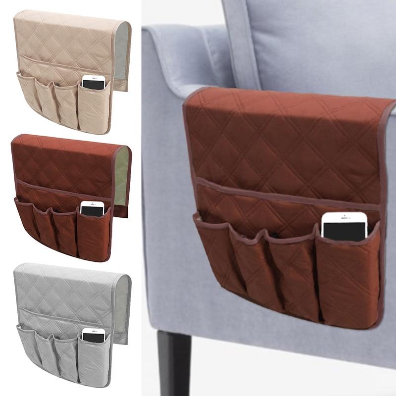 5 Pocket Sofa Armchair Storage Bag for TV Remote Control